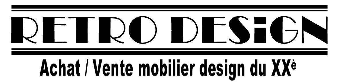 Retro design achat vente mobilier design vintage du xxe siecle for Achat mobilier design
